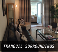 Tranquil aesthetic treatment room